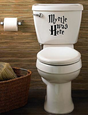£2.99 • Buy Harry Potter  Myrtle Was Here  Funny Decal/sticker For Toilet, Home