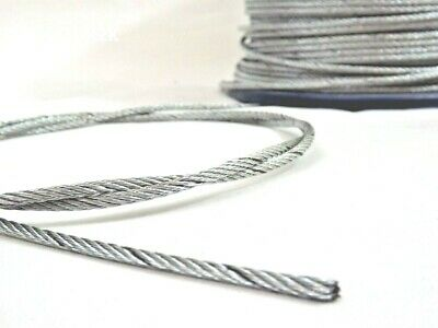 £0.99 • Buy Wire Rope Stainless Steel Metal Cable Price Per Metre FREE P&P Few Diametres