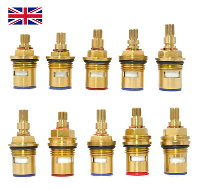 Replacement Tap Valves Ceramic Disc Cartridges Gland Quarter Turn 20 Teeth 1/2  • 6.99£