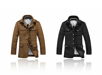 $37.49 • Buy US Seller Men Slim Fit Fashion Casual Button Up Jacket Military Style Coat PK97