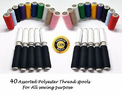 Sewing Thread Polyester Embroidery Spools Reel For JANOME , BROTHER , SINGER • 7.99£