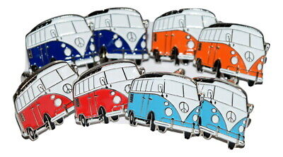 £9.99 • Buy Camper Van Cufflinks Orange Red Dark/Pale Blue Wedding Gift BOXED Enamel