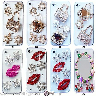 £6.99 • Buy NEW 3D BLING DELUX DIAMANTE SPARKLE CASE COVER FOR MOBILE PHONE SAMSUNG IPHONE