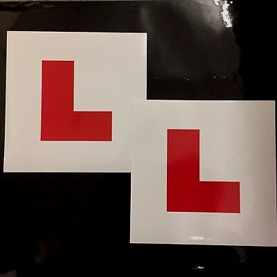 £1.50 • Buy L PLATES - Learner Driver, DVLA Legal Size, Easily Removeable