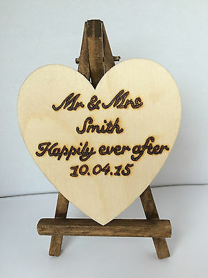 Personalised Wood Freestanding Table Number Easel Wedding Place Name Stand Cafe  • 6.99£