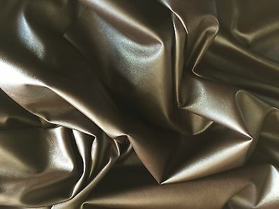 Brown Dress Clothing Faux Leather Leatherette Lycra Stretch Fabric Pvc Material* • 5.99£