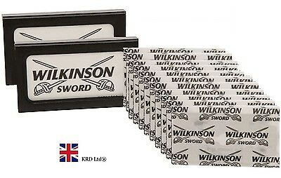 2 Pack X Genuine WILKINSON SWORD Double Edge Shaving Razor Barber Cut 10 Blades • 2.55£