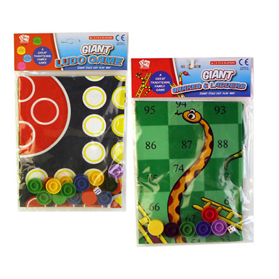 Giant Snakes And Ladders Or Ludo Play Mat Traditional Childrens Game • 2.49£