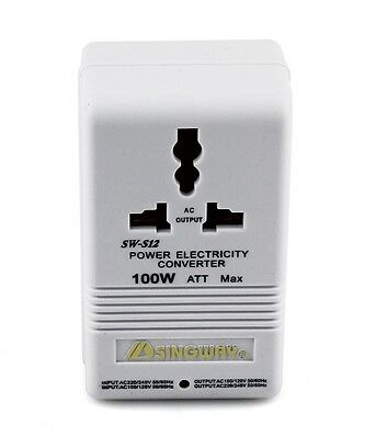 Voltage Converter Step Up / Down Max100w Ultra Compact 220 To 110v & 110 To 220v • 10.80£