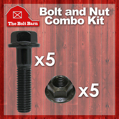 $21.82 • Buy (5) M14-2.0x50 Class 10.9 DIN Hex Flange Bolts & (5) M14-2.0 Flange Lock Nuts