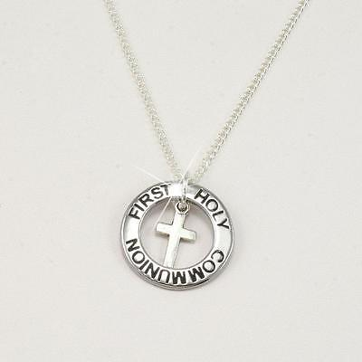 First Holy Communion Necklace, Ring Style, Gift For Granddaughter, Daughter Etc • 9.99£