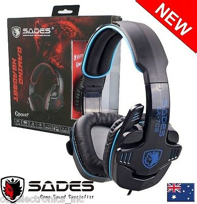 AU25 • Buy SADES GPOWER 708 3.5mm Computer Headset Gaming With Microphone Headphone For PC