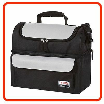 AU34.80 • Buy Thermos Food Jar LUNCH LUGGER COOLER BAG SOFT SIDED Dual Insulated Compartments