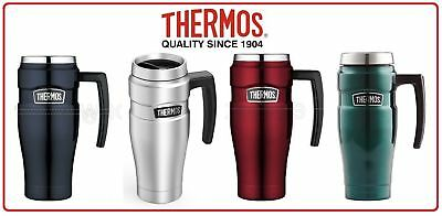 AU37.80 • Buy Thermos STAINLESS STEEL VACUUM Insulated Travel Mug With Handle 470ml 4 Colors