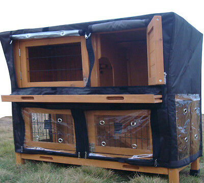 4ft Large Double Rabbit Hutch / Guinea Pig Run / Deluxe Pet Hutches / Cage Pets • 149.99£