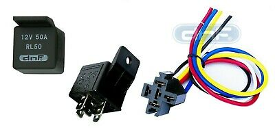 1 piece 50 amp 12v bosch style s relay & harness socket spdt + 100%