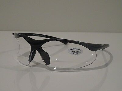 AU30.75 • Buy  2 Pairs X  Bifocal Clear Safety Glasses UV100 Workwear  +1.50