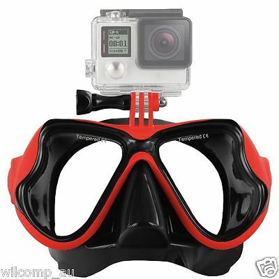 AU29.95 • Buy With GoPro Bracket Liquid  Silicone Mask For Snorkeling Scuba Diving WIL-DM-GPR