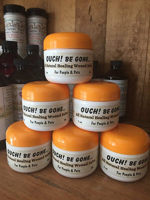 2.5 Oz Ouch! Be Gone All Natural Healing Salve Mother Earth's Neosporin • 10.48£