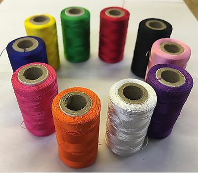 10 Vibrent Spools Sewing Machine Silk Threads BROTHER,JANOME,GUTERMAN • 4.89£