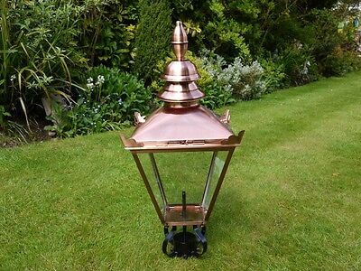 Antique Style Victorian Lantern Lamp Post Top In Brushed Copper Finish 3529 • 174.99£