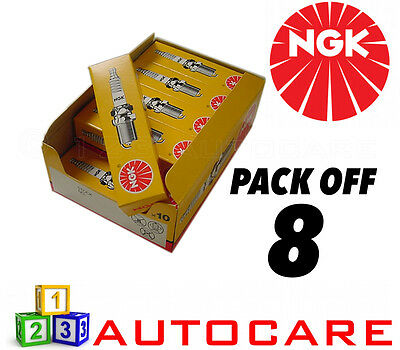 NGK Replacement Spark Plug Set - 8 Pack - Part Number: BPR6ES No. 7822 8pk • 19.21£