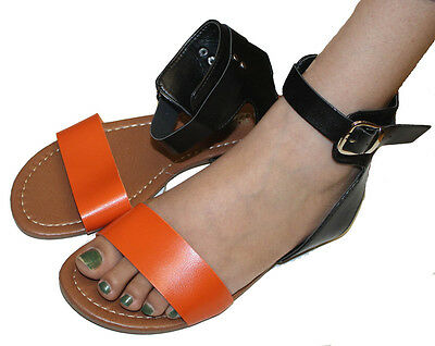 3de523820 Womens Summer Gladiator Sandals Flats FashionThongs T Straps Ladies  Shoes-1280 • 8.99