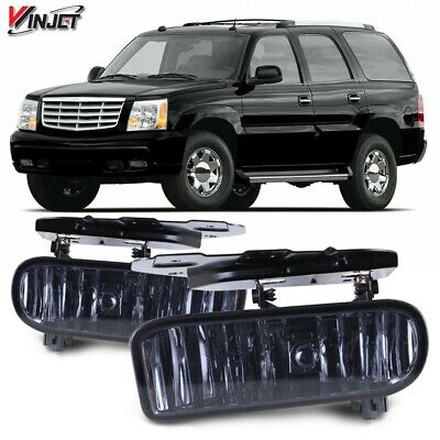 $30.80 • Buy 02-06 For Cadillac Escalade Smoke Lens Pair Bumper Fog Light Lamp OE Replacement