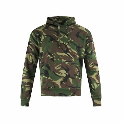 Mens Camo Camouflage Hoodie Overhead Green Army Hooded Jumper Pullover S 5XL • 15.99£