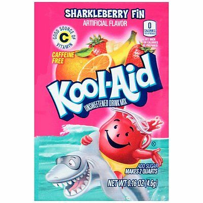 Kool-Aid Unsweetened Drink Mix Packets SHARKLEBERRY FIN (10 Packets) • 6.08£
