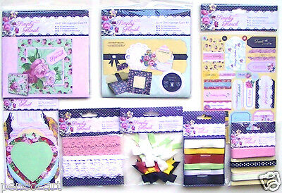 £2.35 • Buy Papermania Simply Floral Embellishments Stickers Card Kit Buttons Ribbon Bows