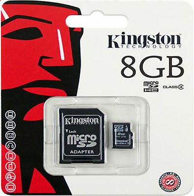 AU12.64 • Buy Original 8GB Kingston MICRO SD Memory Card With Adapter TF Mobile Camera Tablet