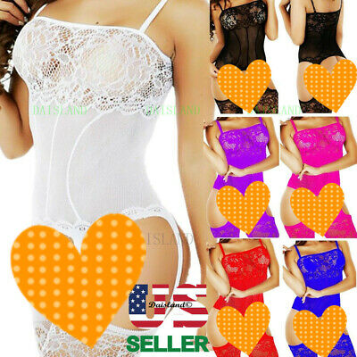 $8.96 • Buy Fishnet Body Stockings Sleepwear Adult New Women's Lingerie Bodysuit Babydoll