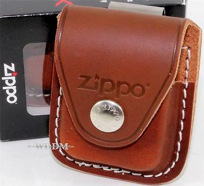 Zippo Brown Leather Lighter Pouch/Case/Holder W/Belt/Boot Clip Made In U.S.A. • 16.95$
