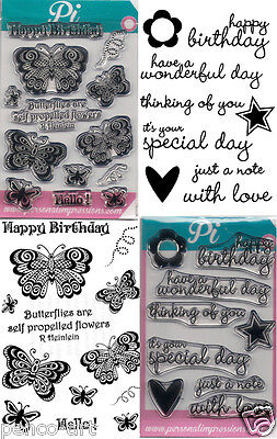 Personal Impressions Clear Stamps Happy Birthday Butterflies And Star Greetings • 3.85£