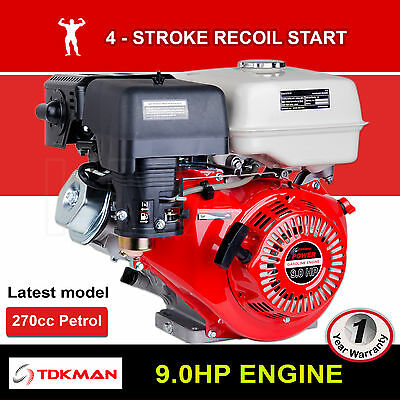 AU599 • Buy 9HP Petrol Engine OHV Stationary Motor Horizontal Shaft Recoil Start 9.0 Gokart