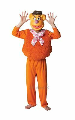 Child Boys Deluxe Fozzy Bear Disney The Muppets Girls Fancy Dress Costume Outfit • 15.45£