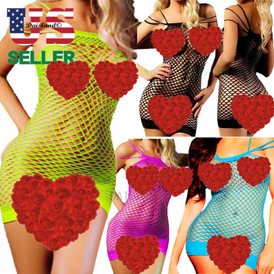$8.29 • Buy Stocking Lingerie Bodysuit Fishnet Bodystockings Tank Top Blouse Dress Nightwear
