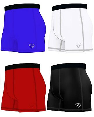 £7.49 • Buy Mens Compression Boxer Shorts Base Layers Sports Briefs Skin Fit Gym Shorts