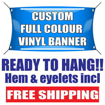£24.99 • Buy PVC Banners Sign-outdoor Printed Advertising Display Ready To Hang Party Banner