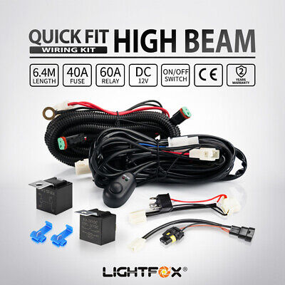 AU29.95 • Buy Led Light Wiring Loom Harness Relay Kit Driving Lamp Plug Quick Fit HB3 H4