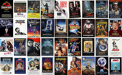 $ CDN10.35 • Buy Classic Vintage Movie Posters Goonies ET Willow Jaws Taxi Labyrinth Jurassic ...