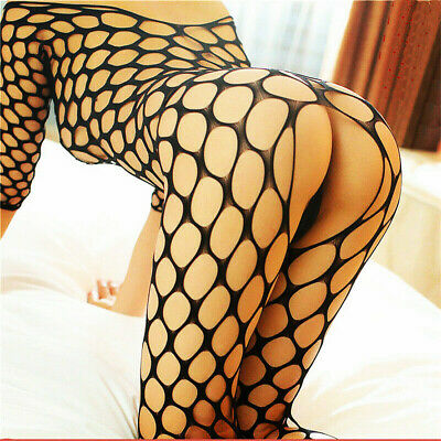 $7.98 • Buy Bodystocking Mesh Fishnet Style Body Stocking Dress Bodysuit Nightwear Lingerie
