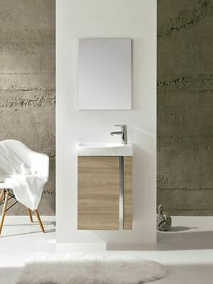 Royo Elegance Wall Hung Unit, Basin & Mirror Combination Set, Various Colours • 260.54£
