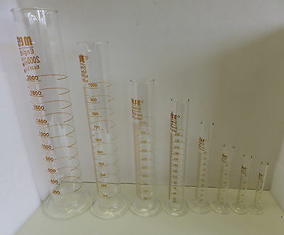 £6.30 • Buy Glass Measuring Cylinders, Borosilicate Glass, Size 10, 25, 50, And 100 Ml