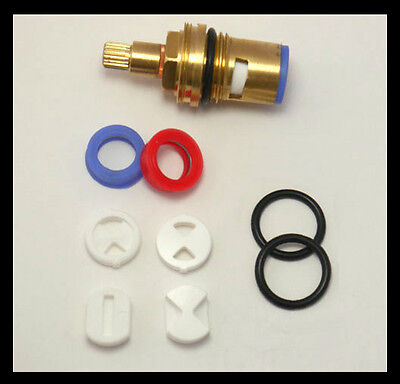 Replacement Ceramic Discs For Quarter Turn Tap Valve Cartridge Seals Repair Kit • 4.99£