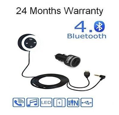 Bmw Ford Hyundai Bluetooth Music Streaming Handsfree Kit IPod Audio Cable Lead • 9.99£