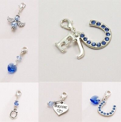 £6.99 • Buy Something Blue Wedding Charms. Gift For Bride On Wedding Day. High Quality.
