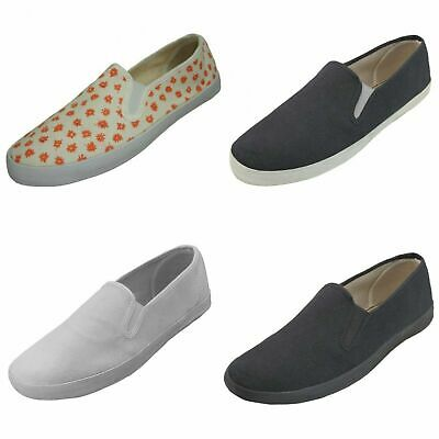 $ CDN12.55 • Buy New Womens Canvas Sneakers Slip On Fashion Tennis Gore Boat Deck Shoes Size:5-10