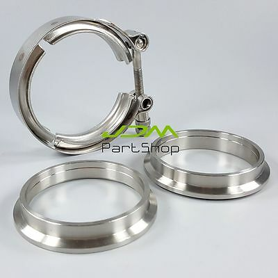 AU29.99 • Buy  2.5  Inch 64mm Stainless V-Band Clamp Exhaust Downpipe+Female Male Two Flanges